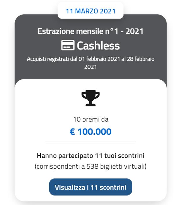 Lotteria Scontrini: estratti i primi 10 vincitori