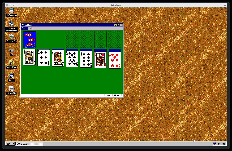 Windows 95 come applicazione Electron
