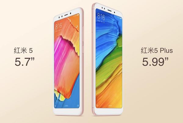 Xiaomi Redmi 5 e Redmi 5 Plus
