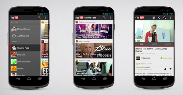 YouTube su Android