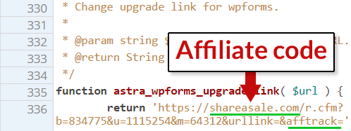 Astra WordPress link affiliati