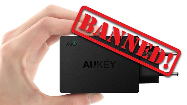 Aukey, Mpow, RavPower, Vava, TaoTronics Choetech bannati da Amazon per sempre