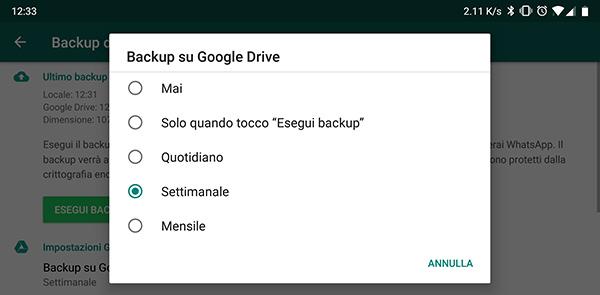 conversazioni whatsapp da google drive