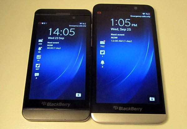 BlackBerry Z10 e Z30
