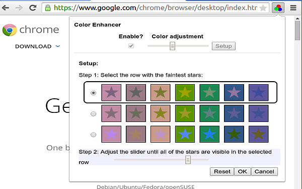 Color Enhancer, estensione di Chrome per utenti daltonici