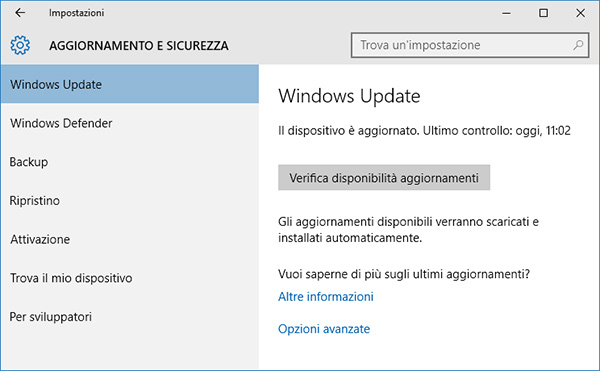 Come installare Windows 10 Anniversary Update