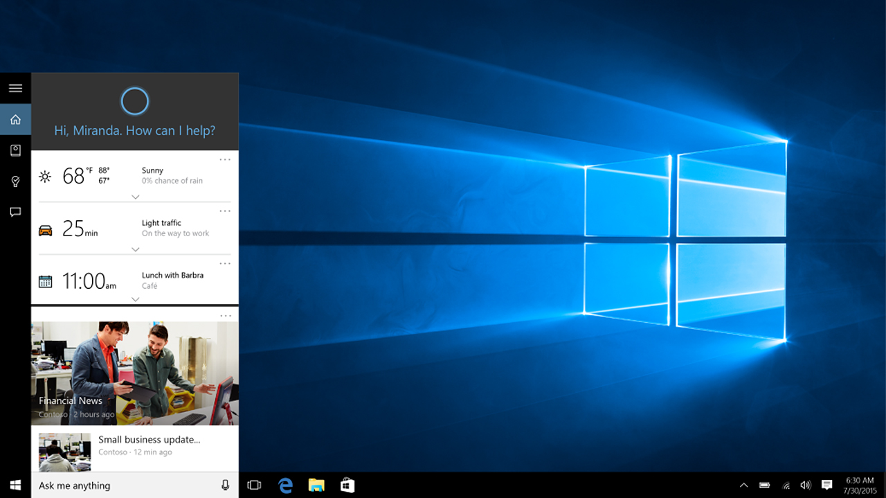 Windows 10, Patch Tuesday: arrivano gli update cumulativi