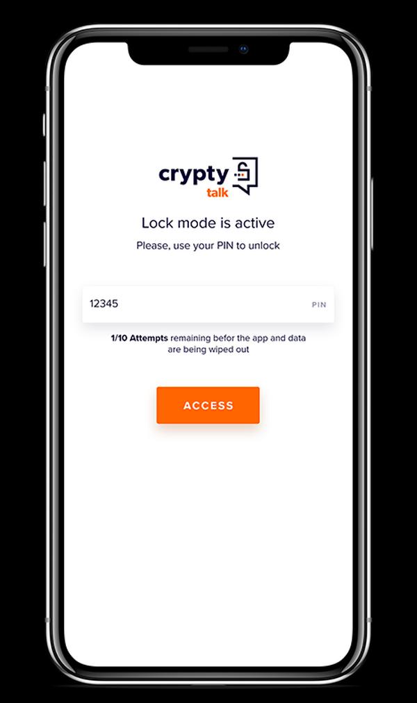 emergency-mode Crypty Talk