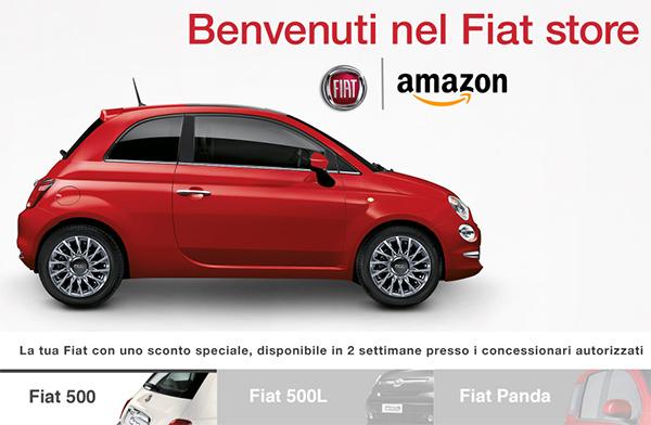 Fiat Store, compra una Fiat su Amazon