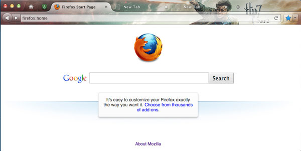 Firefox interfaccia