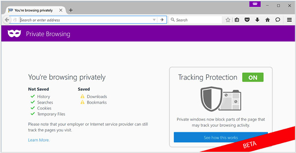 Mozilla Firefox 42, Tracking Protection