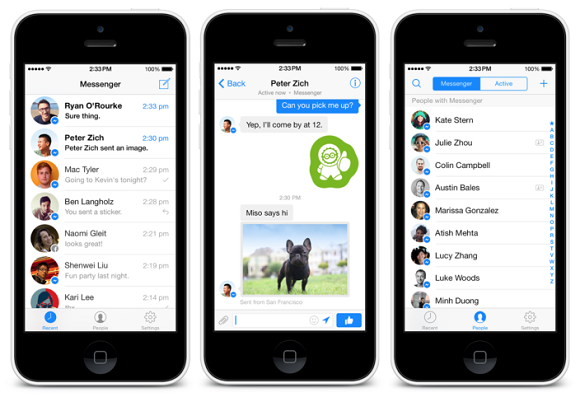 Facebook Messenger 3.0, iPhone