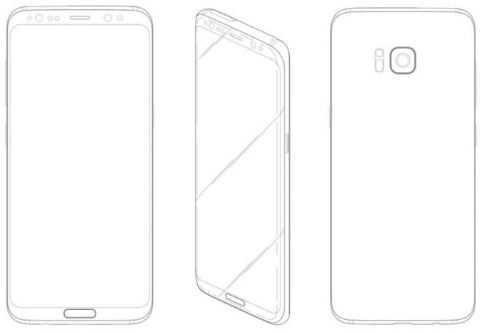 Galaxy S8 con sensore di impronte frontale