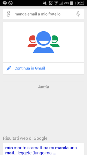 Google Now, gradi di parentela