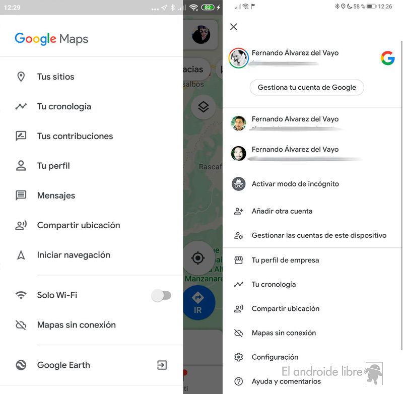 Nuova interfaccia su Google Maps