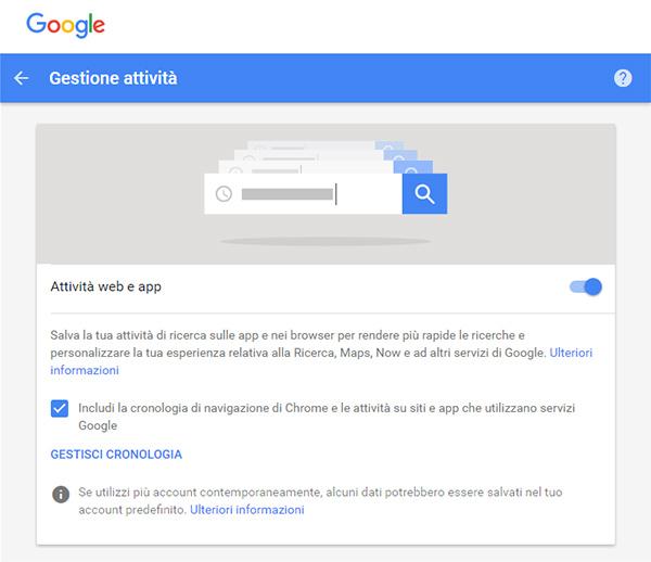 Le mie attività su Google