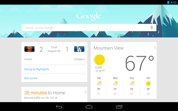 Google Now, Android