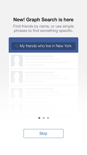 Facebook Graph Search mobile