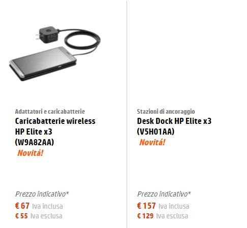 HP Elite X3 accessori
