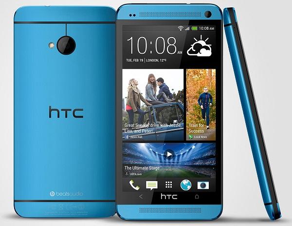 HTC One, blu