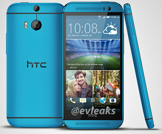 HTC One (M8) in blu