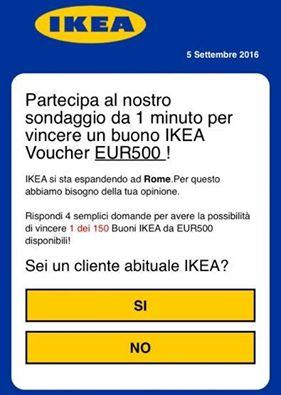Ikea, frode su WhatsApp
