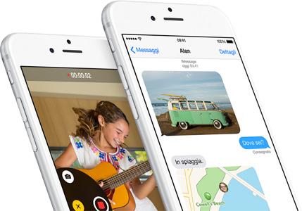 iOS 8, Messaggi