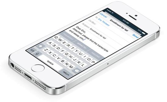 iOS 8, tastiera predittiva