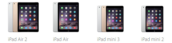 Apple iPad, line-up