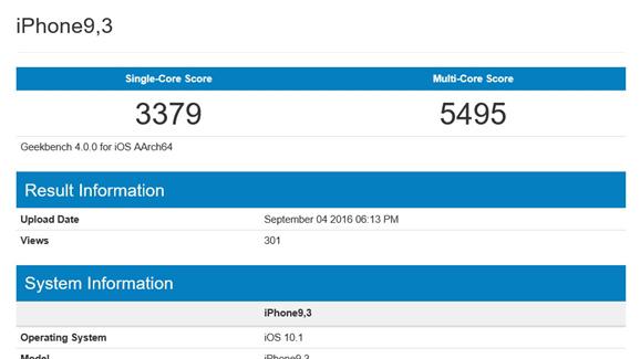 iPhone 7, primi benchmark