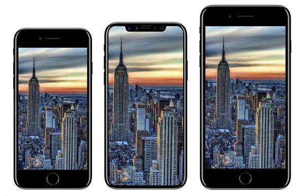 Dimensioni schermo iPhone 8 a confronto