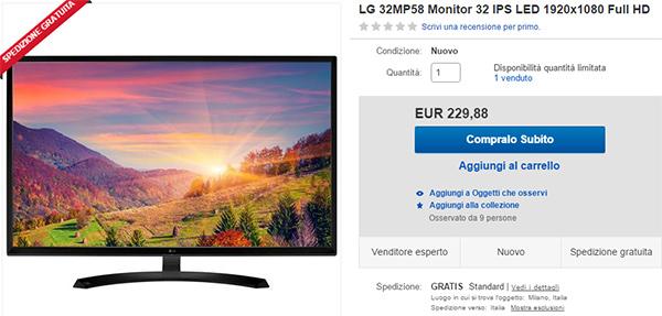 Monitor 32 pollici LG