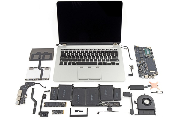MacBook Pro con display Retina, 13 pollici, interni