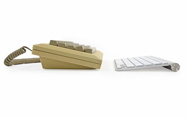Macintosh 128k e iMac, tastiere