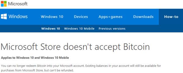 Microsoft Bitcoin