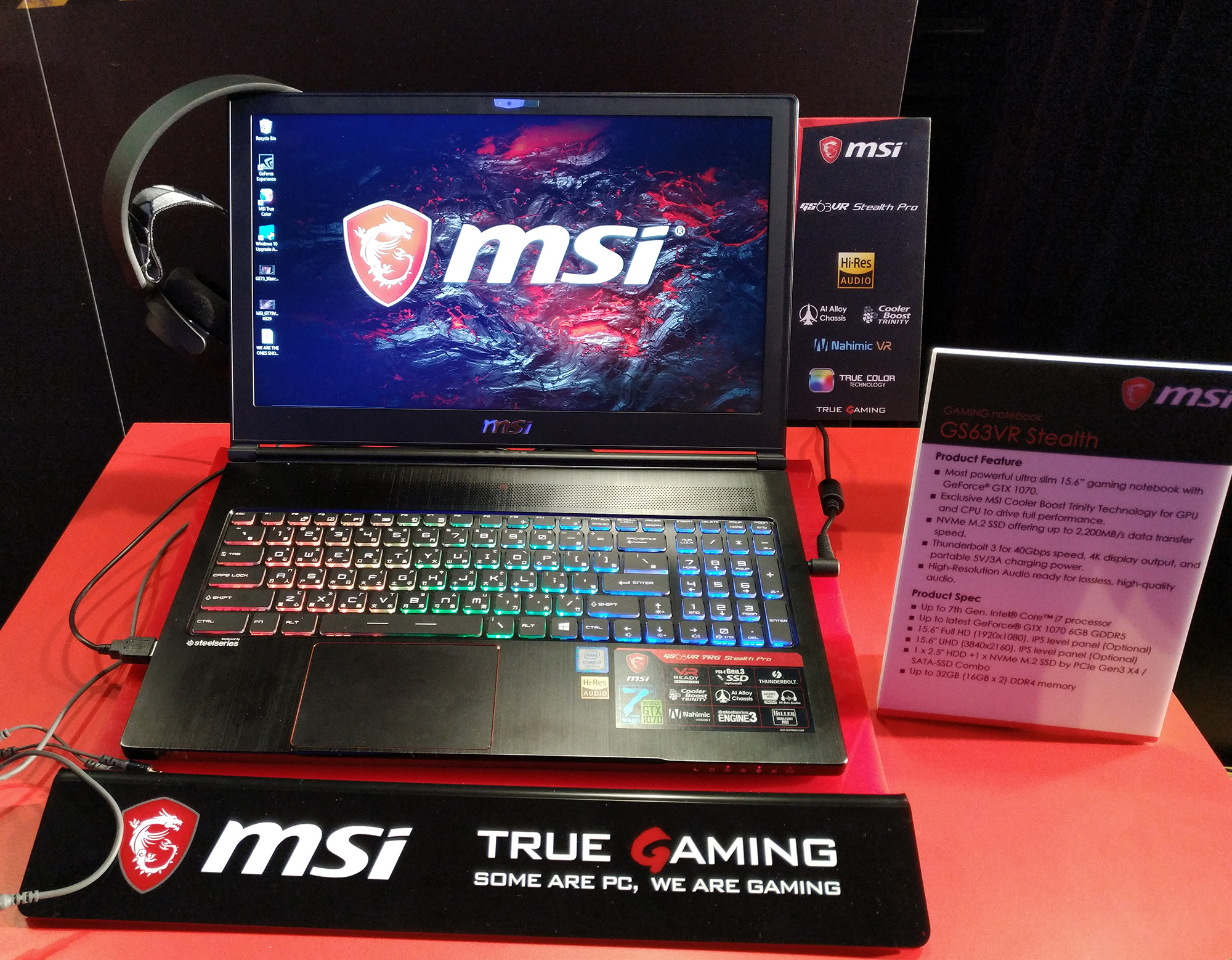 MSI GS63VR/GS73VR Stealth Pro, notebook gaming in solo 18mm di spessore
