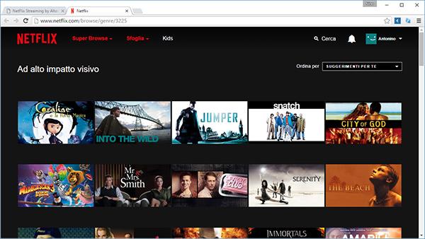Netflix, lista completa delle categorie segrete