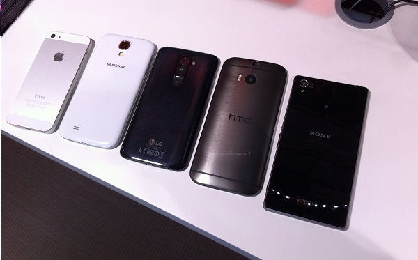 HTC One (2014) vs iPhone 5S, Galaxy S4, Note 3, Xperia Z1, LG G2
