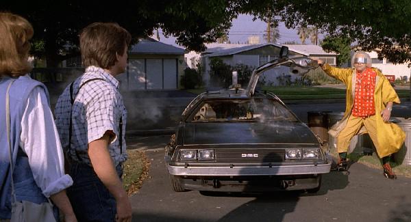 Marty McFly DeLorean Ritorno al Futuro