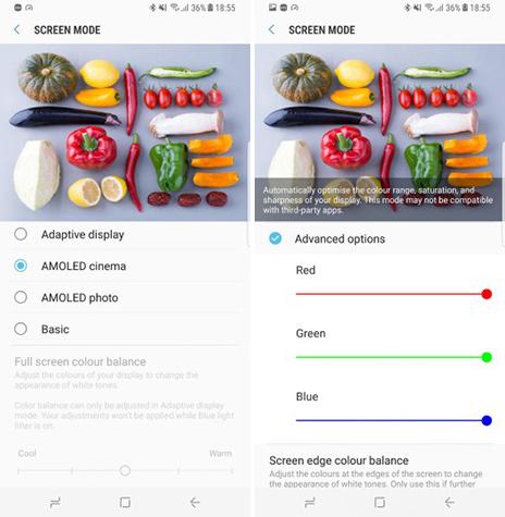Galaxy S8, nuove impostazioni