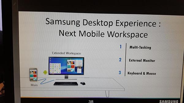 Galaxy S8 usato come desktop