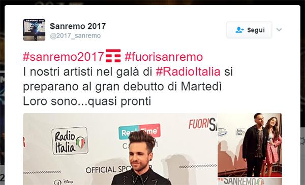 TIM acquista l'hashtag #SanRemo2017 su Twitter