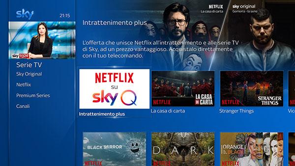 Netflix su Sky Q: prezzi, uscita e altri dettagli