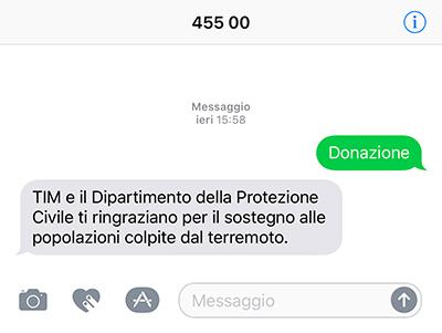 SMS al 45500 per supportare le vittime del terremoto in Centro Italia