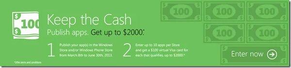 Microsoft Windows Store, promozione sviluppatori