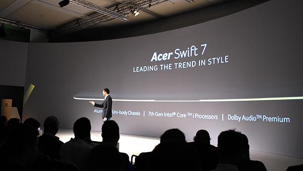 Acer Swift 7, evento di presentazione ufficiale