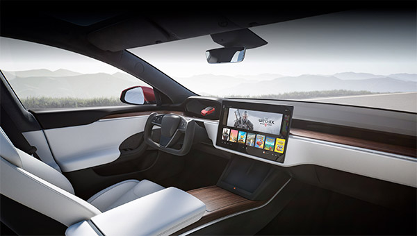 Tesla Model S e The Witcher 3
