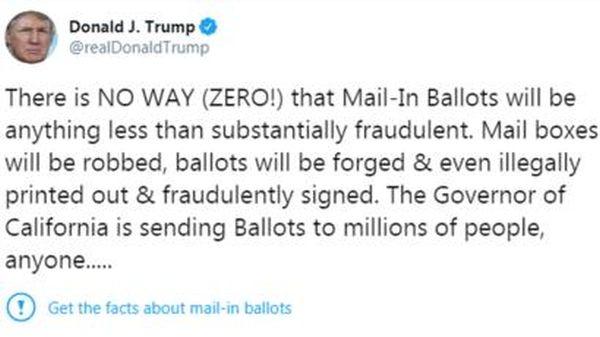 Twitter per prima volta smentisce Trump