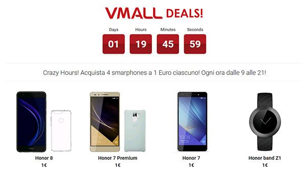 Smartphone a 1 euro in offerta