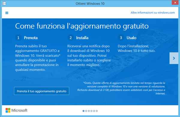 Ottieni Windows 10